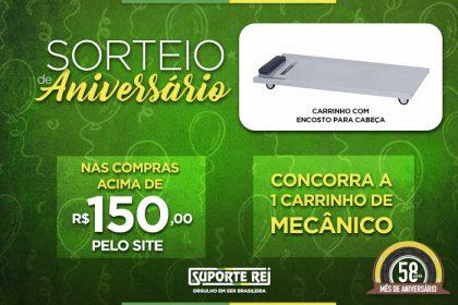 MÊS DE ANIVERSÁRIO - 58 ANOS (SORTEIO II - COMPRAS PELO SITE)