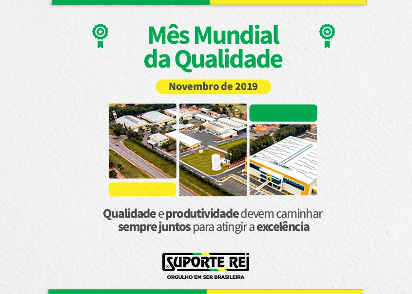 """GRUPO SUPORTE REI inicia atividades do """"Mês Mundial da Qualidade"""""""
